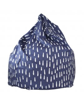 Navy Raindrops Bean Bag