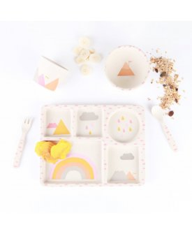 Bamboo 5pc Set - Rainbows