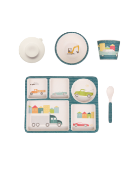 Love mae Divided Plate Set - Cars