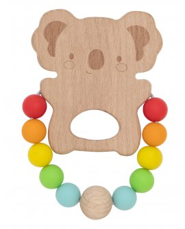 Wooden Silicone Teether - Koala