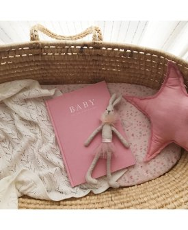 Baby Journal - Birth To Five Years PINK/GREY