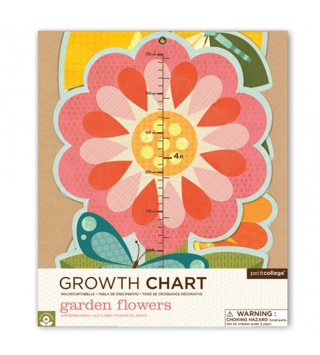 Growth Chart Garden Flowers