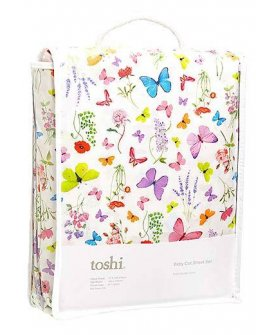 Cot Sheet Set Woven Butterfly