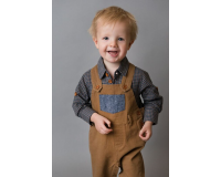 Love Henry Baby Boys Roy Dungaree - Brown