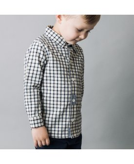 Love Henry Boys Check Shirt - Navy