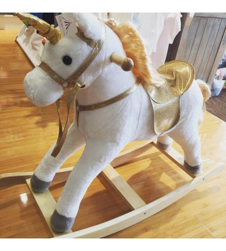 Large Unicorn Rocking Horse