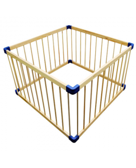 Square wooden playpen
