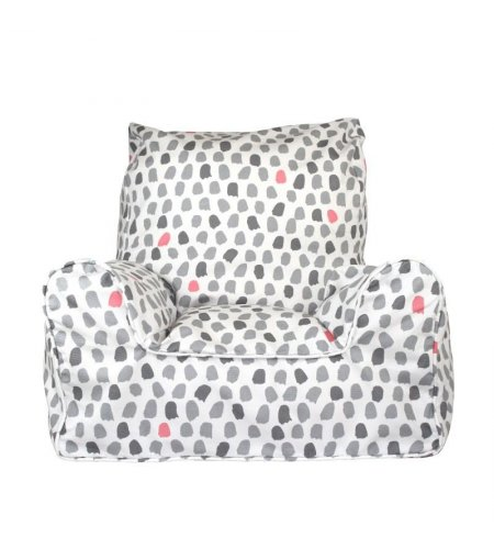 Paint splotches - Grey and Pink Chair