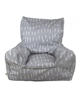 Grey Raindrops Chair